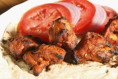 Kebab afgano del pollo Fotografia Stock Libera da Diritti