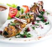Kebab aislado Foto de archivo libre de regalías