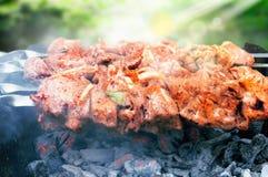 Kebab appetitoso su estate fotografie stock libere da diritti