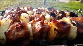 Kebab arrostito, estate, fucilazione lenta video d archivio