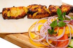 Kebab asado a la parilla Fotos de archivo