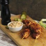 Kebab asado a la parilla del pollo Imagen de archivo libre de regalías