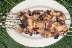 Kebab auf Aufsteckspindeln Lizenzfreies Stockbild