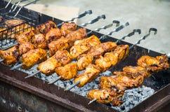 Kebab auf Feuer Lizenzfreie Stockfotografie