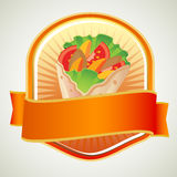 Kebab-Aufkleber Stockbild
