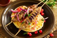 Kebab av lammet, fotografering för bildbyråer