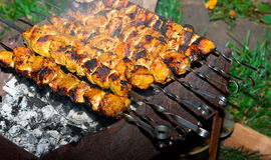 Kebab caliente del shish Fotografía de archivo libre de regalías