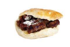 Kebab (Cevap). Specialty made on grill is the famous Balkan brand internationally recognized.Those are small dumplings made from minced meat, mainly veal, mixed Stock Photo