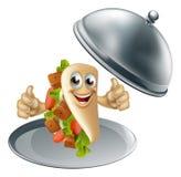 Kebab Character on Serving Dish Royalty Free Stock Photo