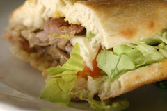 Kebab close up. Turkish sandwich close up Stock Photo