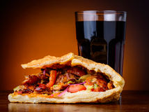 Kebab and cola drink Stock Photography