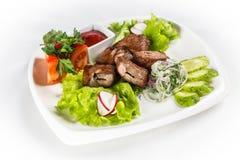 Kebab com vegetais Foto de Stock Royalty Free