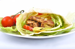 Kebab con la verdura immagine stock