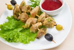 Kebab con las verduras frescas Foto de archivo libre de regalías