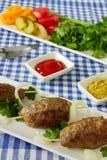 Kebab con las verduras y las hierbas Foto de archivo