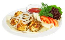 Kebab con sause Immagine Stock Libera da Diritti