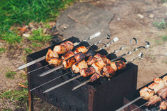 Kebab Cooking Royalty Free Stock Photos