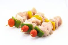 Kebab cru do shish da galinha Imagem de Stock