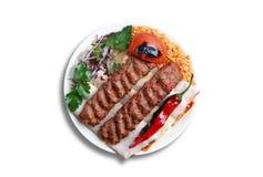 Kebab de Adana imagen de archivo libre de regalías