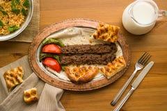 Kebab de Adana del turco Fotografía de archivo libre de regalías