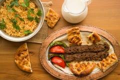 Kebab de Adana del turco Imágenes de archivo libres de regalías