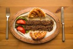 Kebab de Adana del turco Imagen de archivo