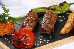 Kebab de Adana del turco foto de archivo