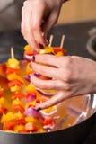 Kebab de barbacoa de los pinchos del Bbq Foto de archivo libre de regalías