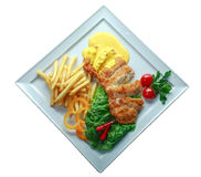 Kebab de Doner en una placa Fotos de archivo libres de regalías
