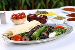 Kebab de la berenjena imágenes de archivo libres de regalías