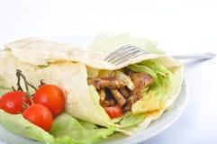 Kebab de la dieta con el vehículo foto de archivo