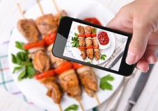 Kebab de la foto Fotos de archivo libres de regalías