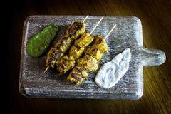 Kebab de Paneer Tikka Imágenes de archivo libres de regalías