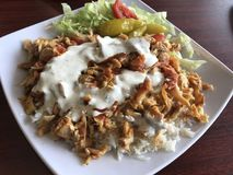 Kebab de poulet photo libre de droits