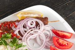 Kebab de Shish Imagenes de archivo