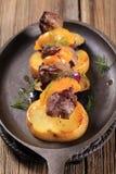Kebab de Shish com laranja imagem de stock