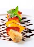 Kebab de shish de poulet Images libres de droits