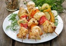 Kebab de shish de poulet Photographie stock libre de droits