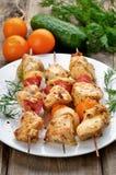 Kebab de shish de poulet Photos stock