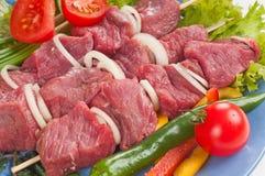 Kebab de Shish del cerdo. Imagenes de archivo