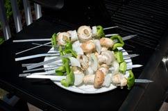 Kebab de Shish dos vegetais Fotos de Stock Royalty Free