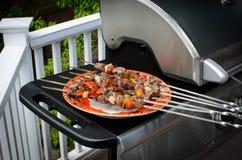 Kebab de Shish em skewers Foto de Stock