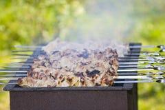 Kebab de Shish sur le gril Image libre de droits