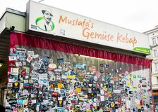 Kebab del Gemuese di Mustafa a Berlino fotografie stock