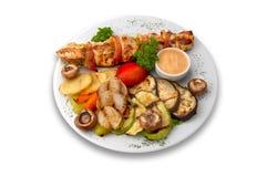 Kebab del pollo Fotografie Stock Libere da Diritti