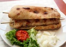 Kebab del pollo Fotografie Stock