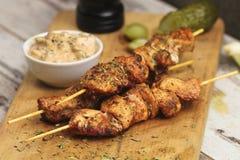 Kebab del pollo Fotografía de archivo libre de regalías