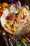 Kebab del pollo con le verdure Immagine Stock Libera da Diritti