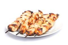 Kebab del pollo del barbecue fotografie stock libere da diritti