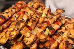 Kebab del pollo en los pinchos Fotografía de archivo libre de regalías